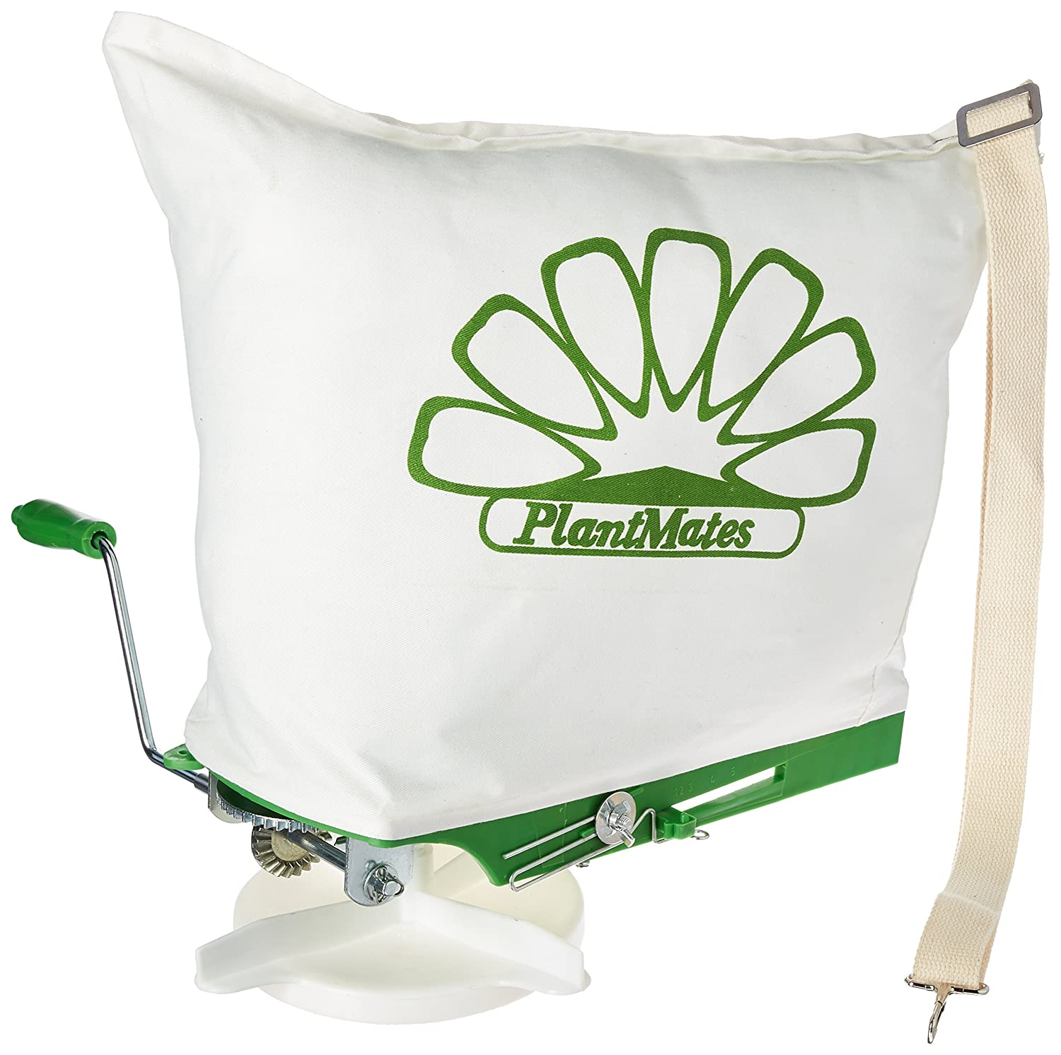 Plantmates 76300 25-Capacity Broadcast Spreader With Canvas Bag Plant Mates