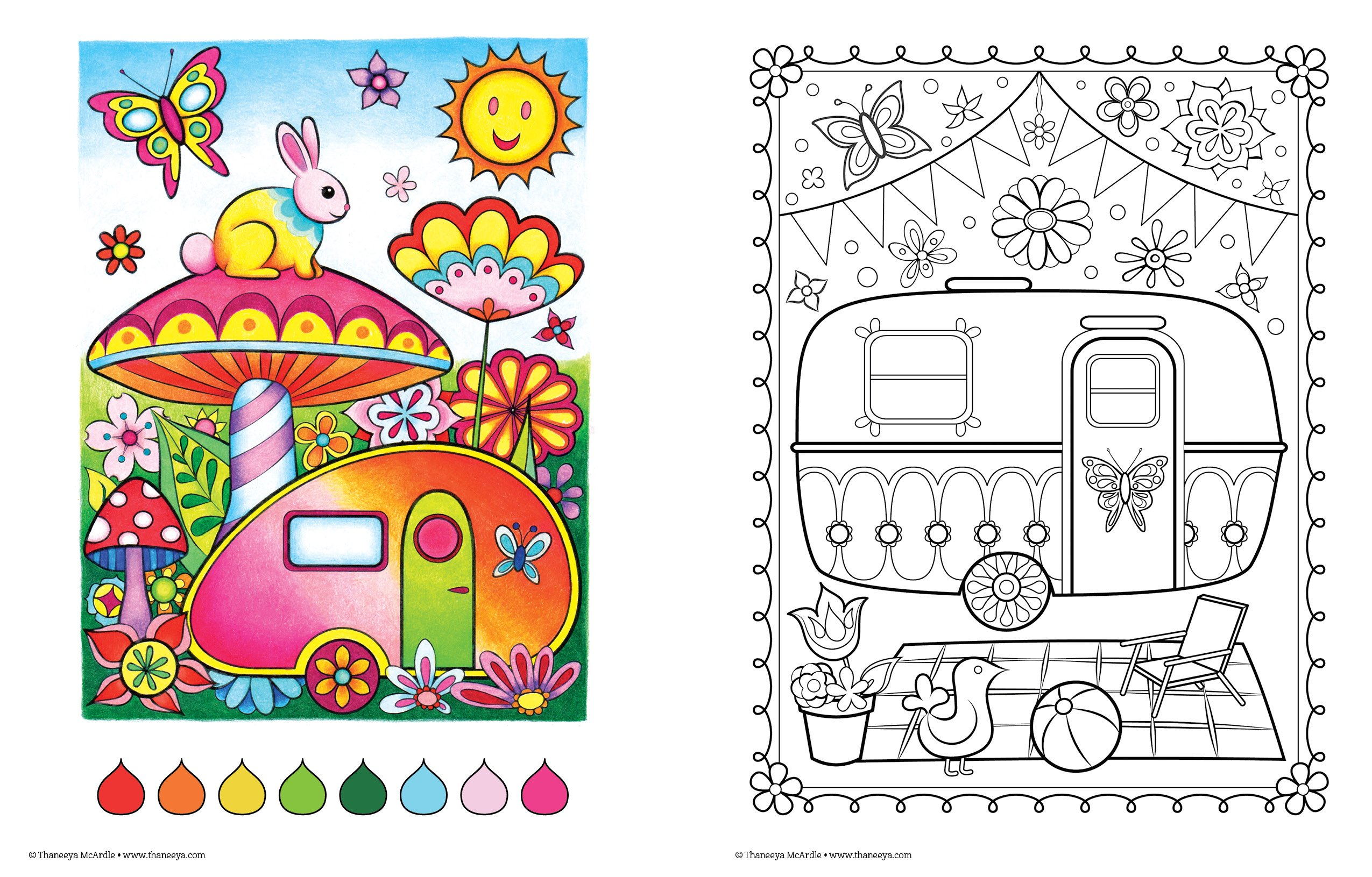 Amazon Happy Campers Coloring Book Is Fun Design Originals 9781574219654 Thaneeya McArdle Books