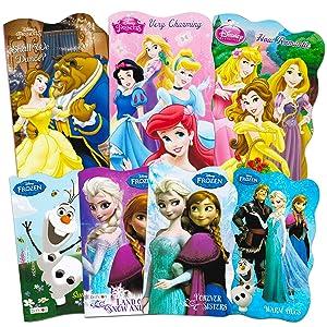 Disney Princess Board Books Super Set ~ 7 Pack Disney Princess and Disney Frozen Books for Toddlers