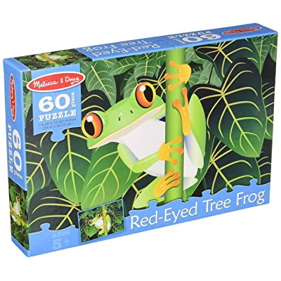 Melissa & Doug Red-Eyed Tree Frog Jigsaw Puzzle (60 pcs): Melissa & Doug: Toys & Games
