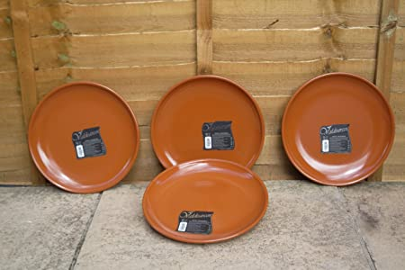 Valdearcos Martos S.A Set of 4 Spanish Terracotta Dinner Plates/Tapas Plates - 29cm Diameter & Valdearcos Martos S.A Set of 4 Spanish Terracotta Dinner Plates ...