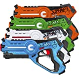 Best Choice Products Multiplayer Mode 4 Pack Kids Infrared Laser Tag Gun Toy Blasters