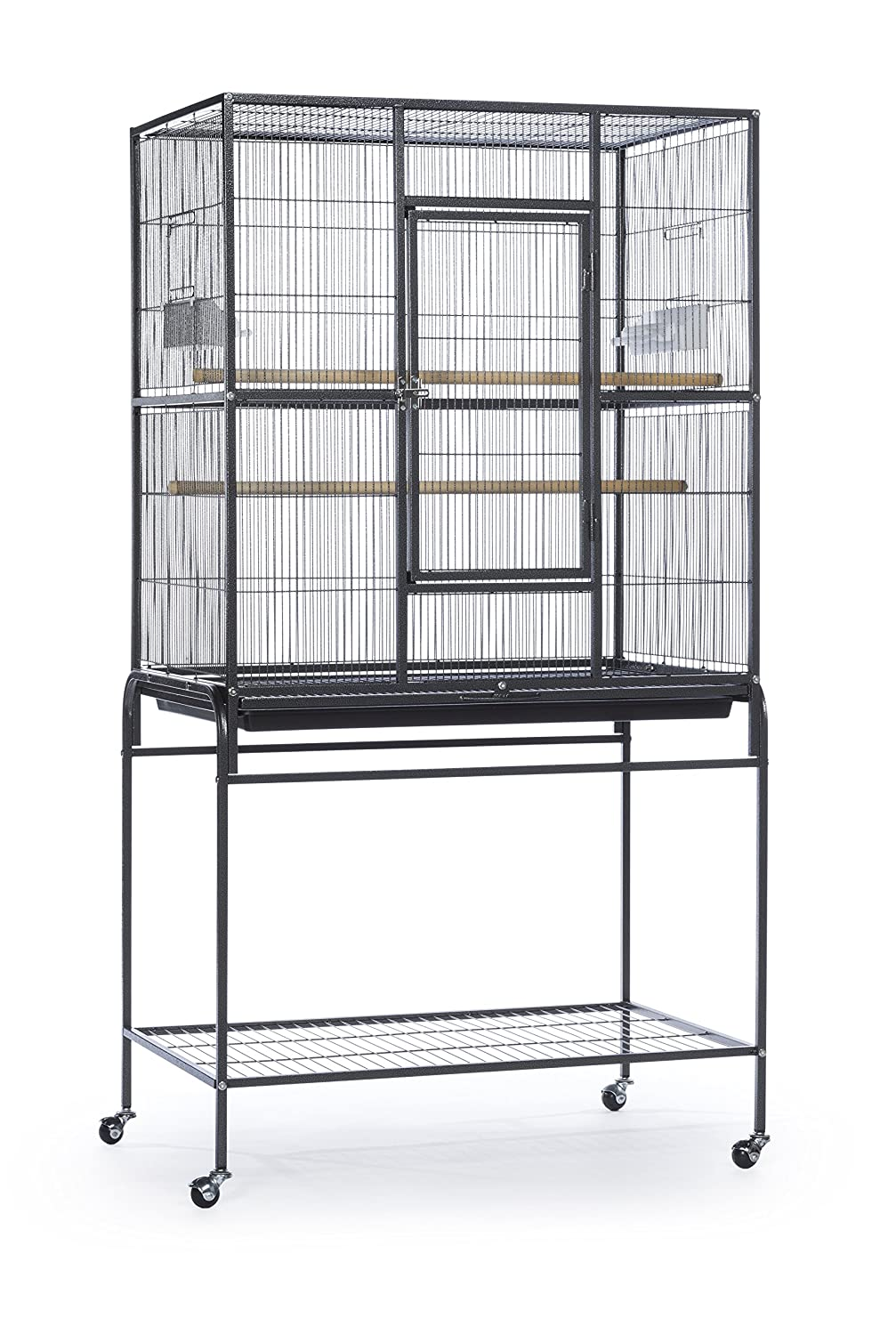 Prevue Pet Products Wrought Iron Flight Cage with Stand Chalk White Inc. F047