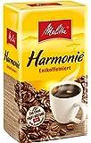 Melitta Gemahlener Röstkaffee, Filterkaffee, entkoffeiniert, vollmundig, milder Röstgrad, Harmonie Entkoffeiniert