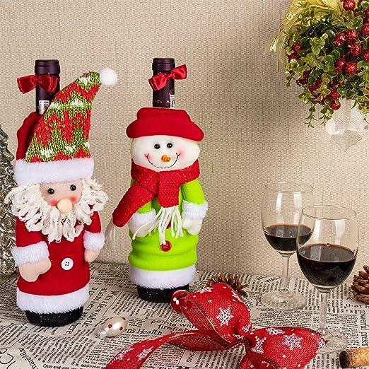 Art Beauty 385/5000 Adornos navideños Botellas de vino Cubierta ...