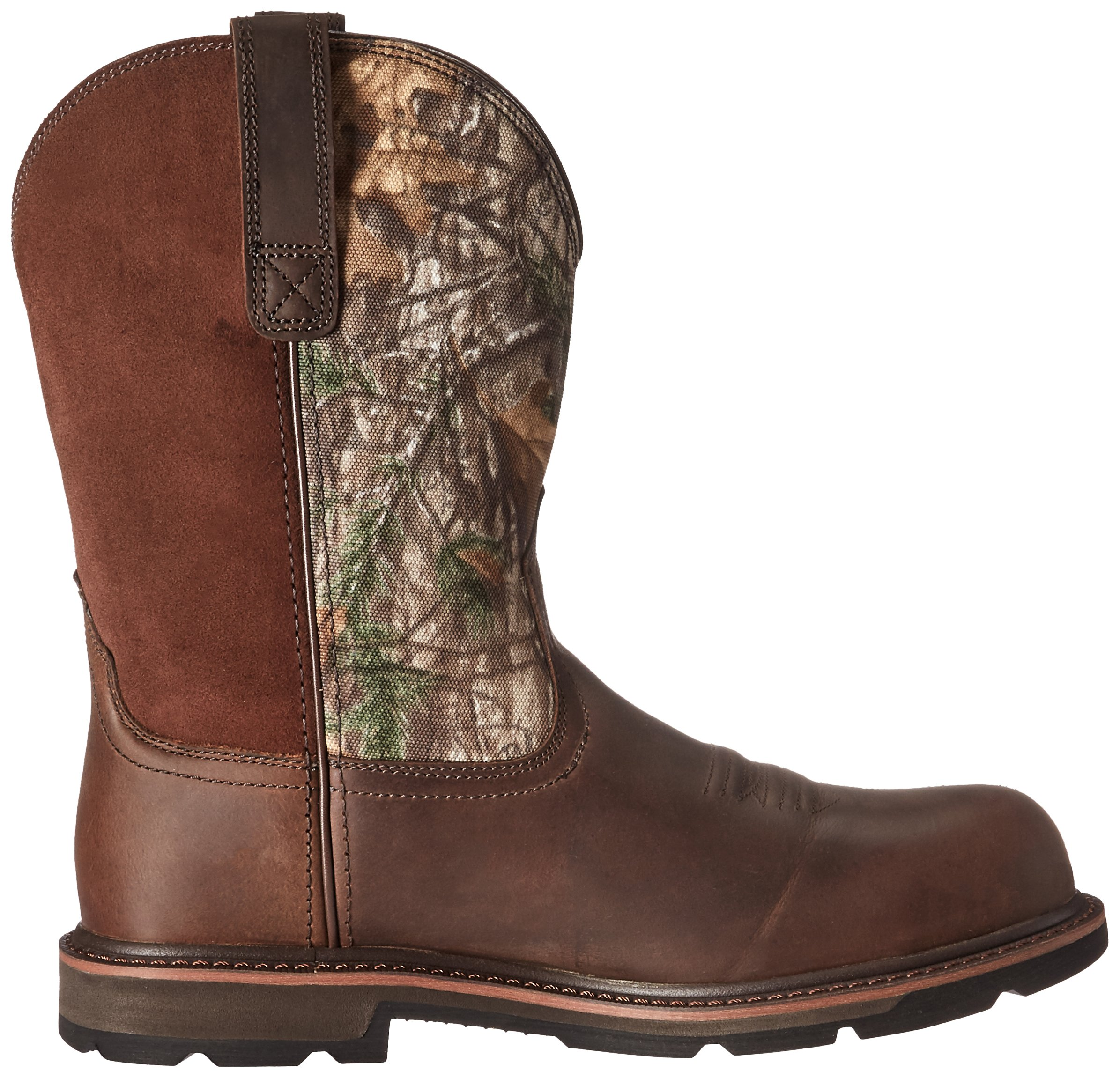 Ariat Work Men's Groundbreaker Pull-On Steel Toe Work Boot, Brown/Real Tree Extra, 7 D US by Ariat (Image #7)