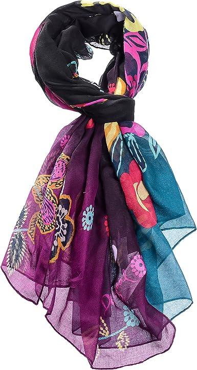 Scarf Spring Shawl New Summer Style Bright Rose Print Silky Scarf New Fashion