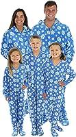 SleepytimePjs Family Matching Blue Snowflake Onesie PJs Footed Pajamas