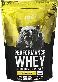 nu3 Performance Whey Protein - Proteína en polvo (74.8%) sabor plátano | Con