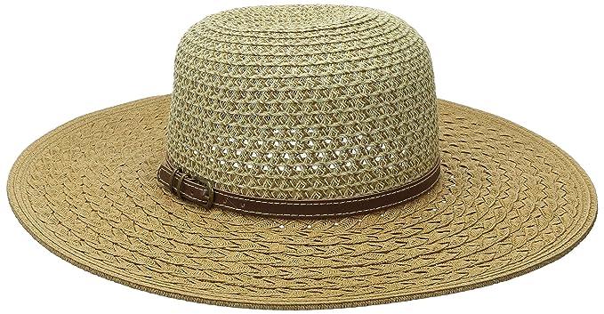 San Diego Hat Company Women s Ultrabraid Ombre Sun Brim Hat with Faux  Leather Band 9da01aebff65