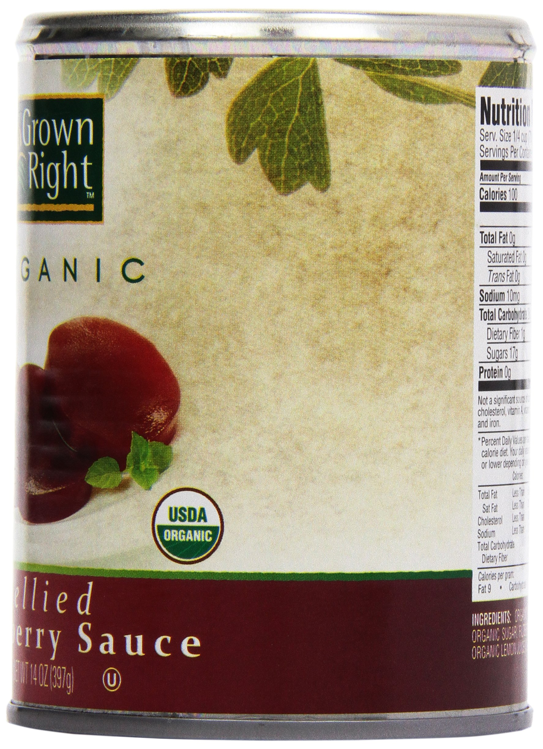 Grown Right Organic Jellied Cranberry Sauce, 16 oz by Grown Right (Image #4)