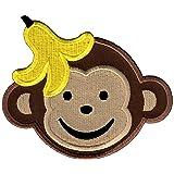 PatchMommy Parche Bordado Mono Chico Parche Termoadhesivo - Parches y Apliques Infantiles