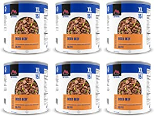 Mountain House Diced Beef #10 Can Freeze Dried Food - 6 Cans Per Case NEW!