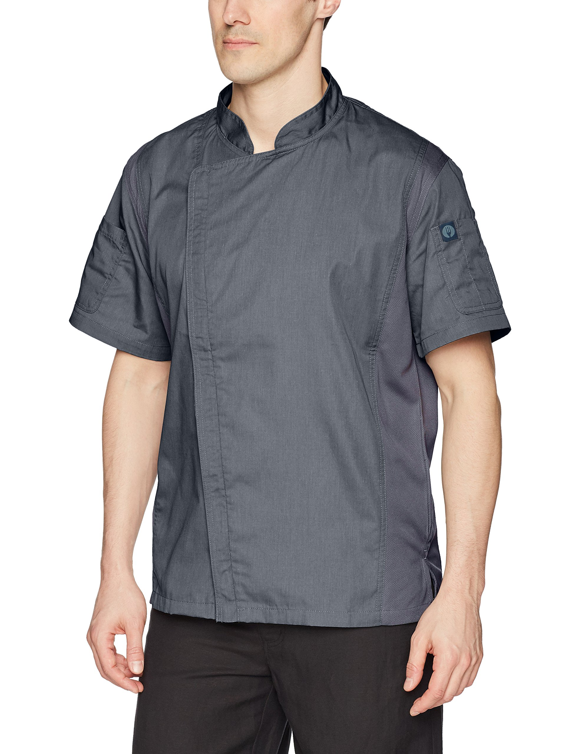 Chef Works Men's Springfield Chef Coat, Ink Blue, Large by Chef Works