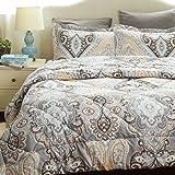"Twin Comforter Set Classics Grey Paisley Design Down Alternative Comforter 2 Piece (1 Comforter + 1 Pillow Sham)(68""x88"")by Bedsure"