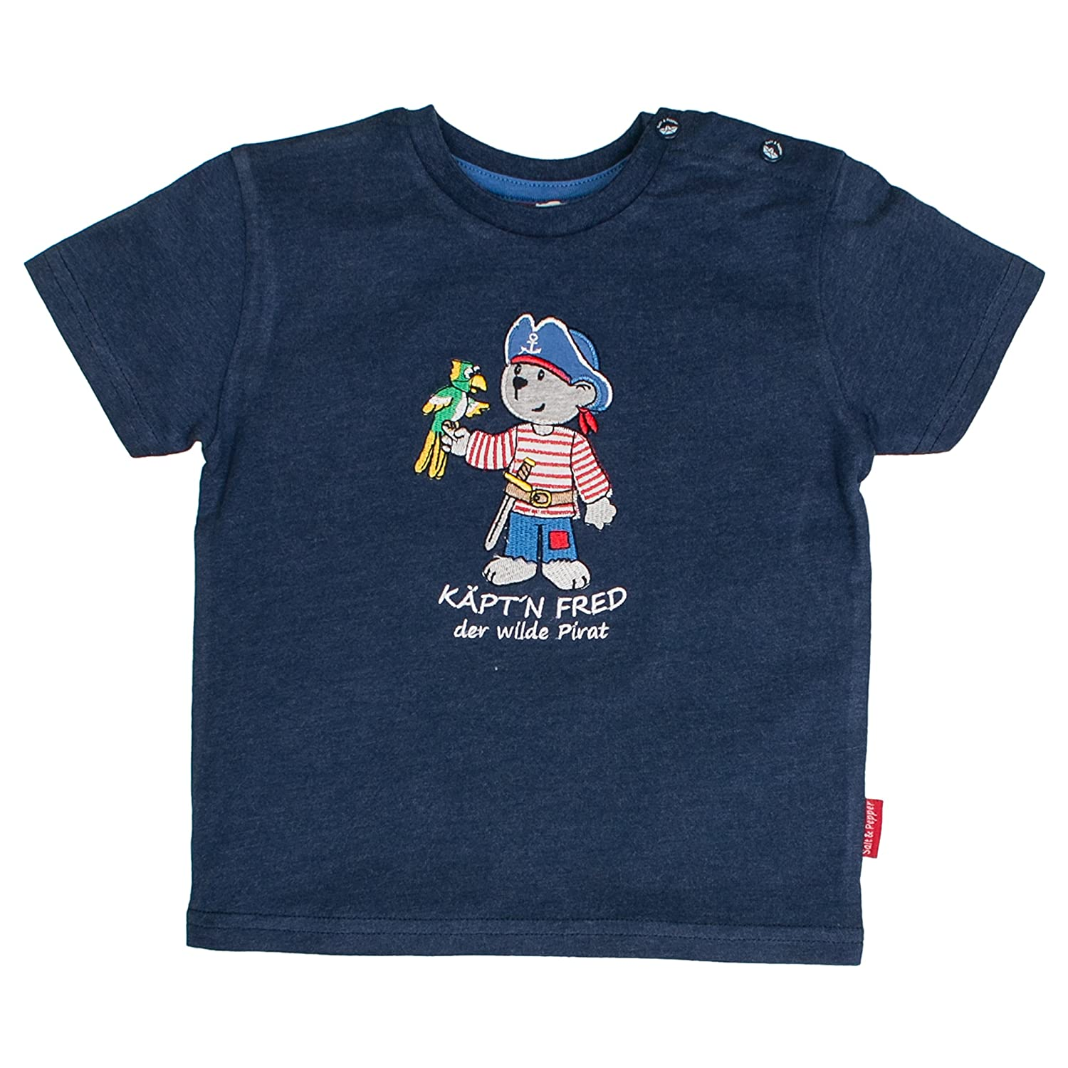 SALT AND PEPPER Baby-Jungen T-Shirt B Pirat Uni K/äpt`n
