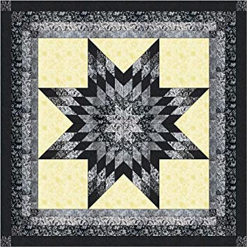 Amazon.com: Lonestar Shades of Black, White, and Gray Quilt Kit ... : black and white quilt kits - Adamdwight.com