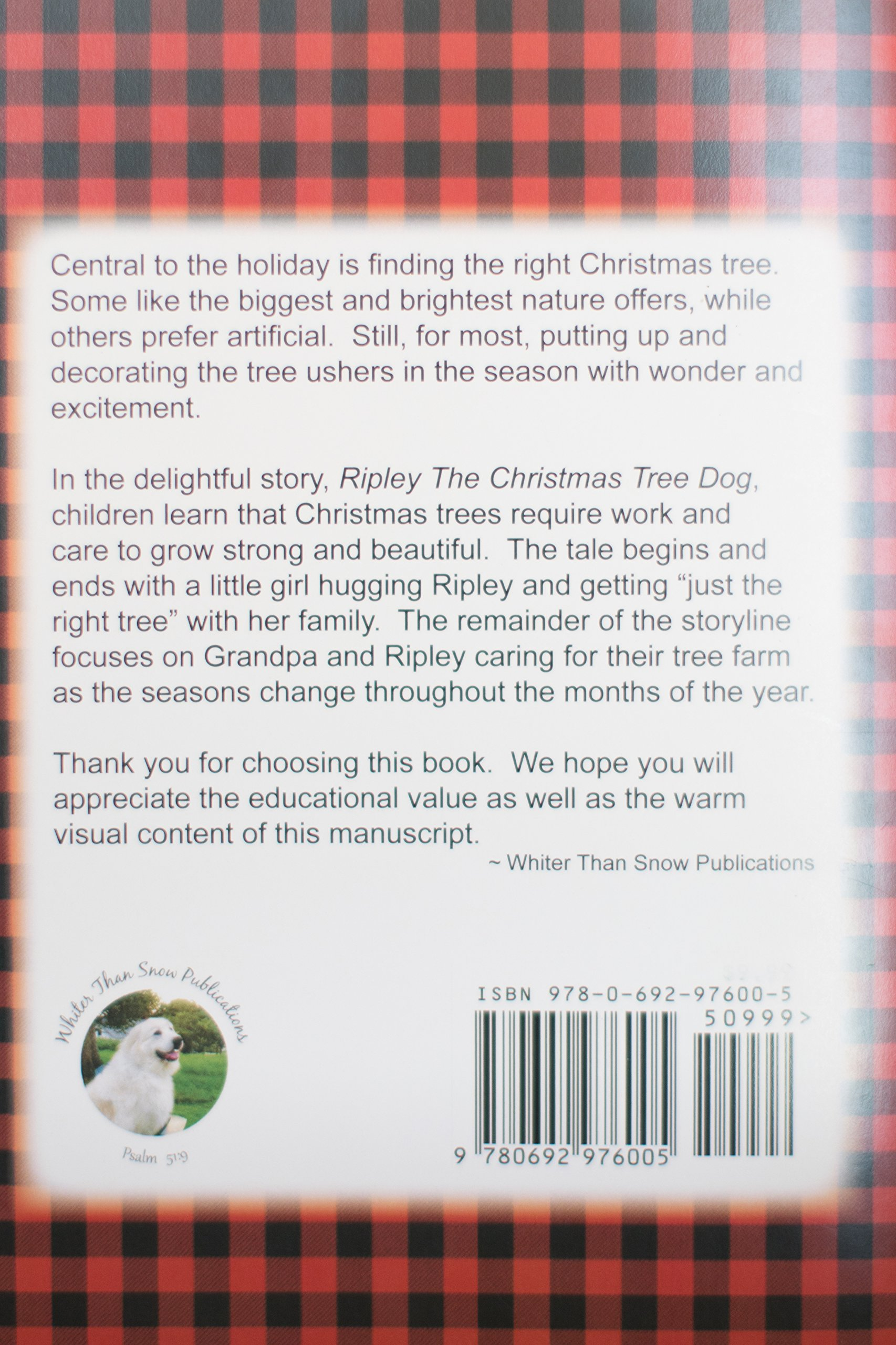 ripley the christmas tree dog fredonna ladd carol ouellette 9780692976005 amazoncom books