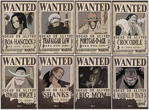 ABYstyle - One Piece - Set 8 Posters Wanted #2 52x35cm (Boa ...