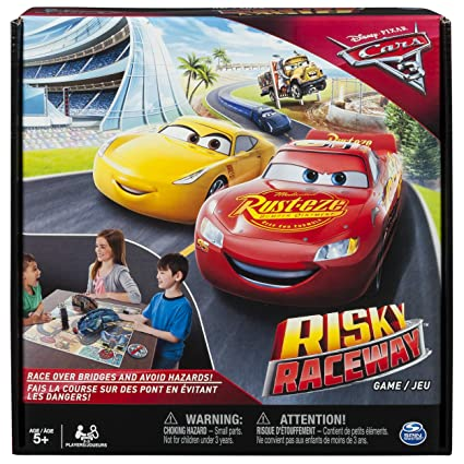 e36c8d2c2a8 Amazon.com  Spin Master Games - Cars 3 - Risky Raceway - Board Game  Toys    Games