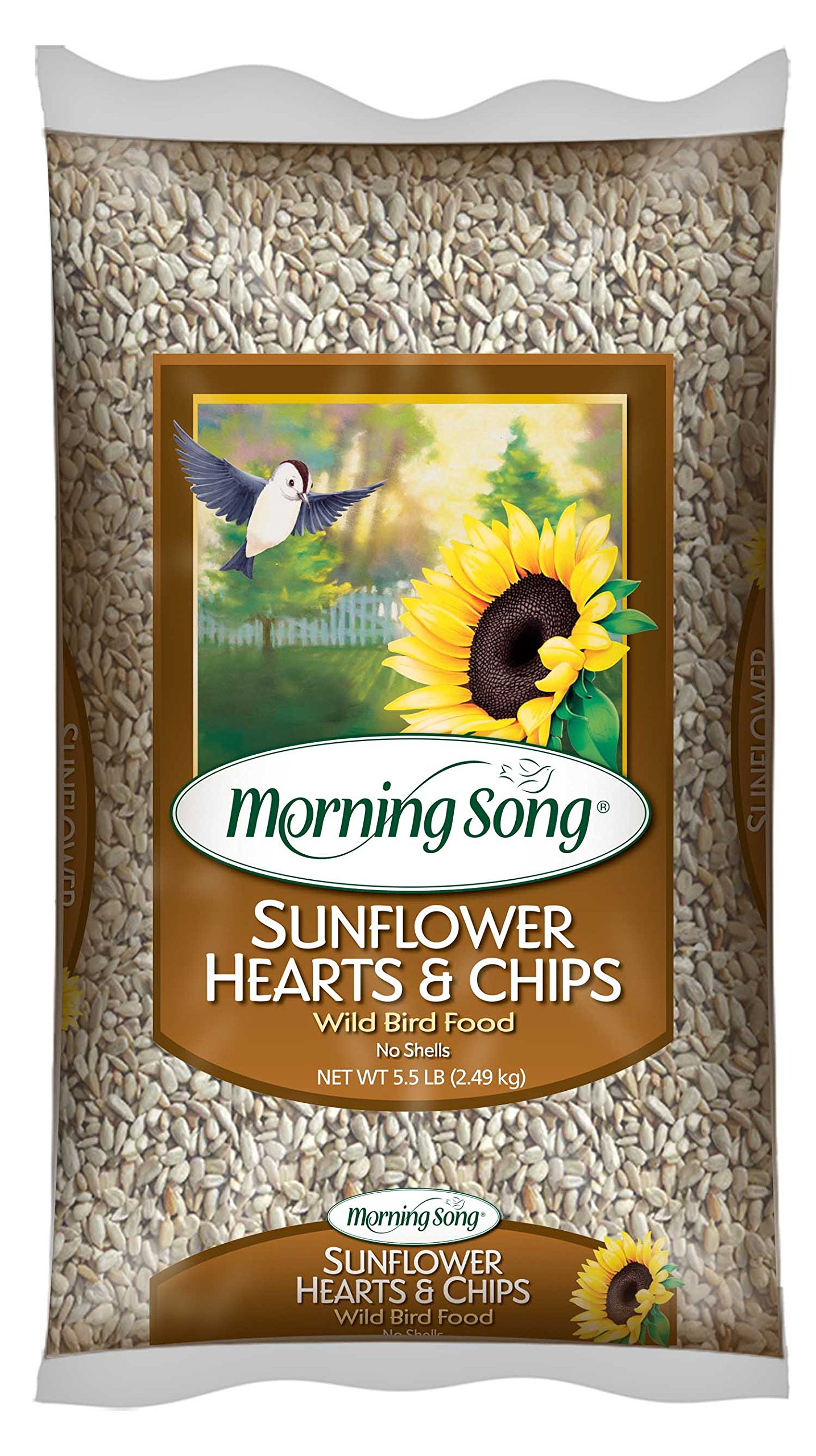 Morning Song 11979 Sunflower Hearts and Chips Wild Bird Food, 5.5-Pound by Morning Song