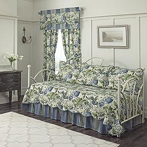 "WAVERLY Floral Flourish Daybed Set, 105""x54"", Porcelain"
