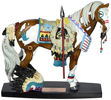 Westland Giftware Fallen Chief War Horse Mustang 6-1 2-Inch Resin Figurine