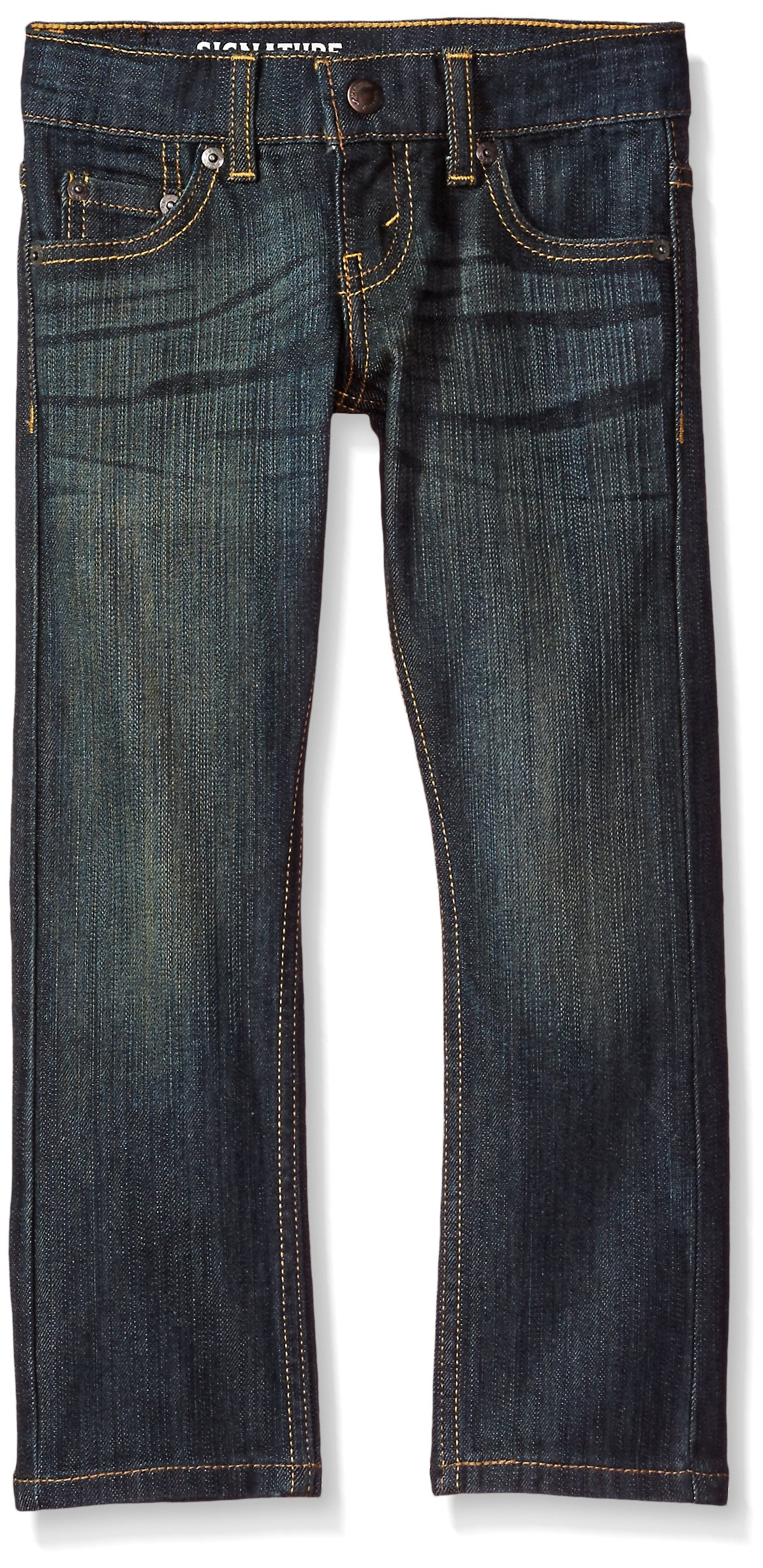 Signature by Levi Strauss & Co. Gold Label Big Boys' Slim Straight Fit Jeans, Bowie, 8