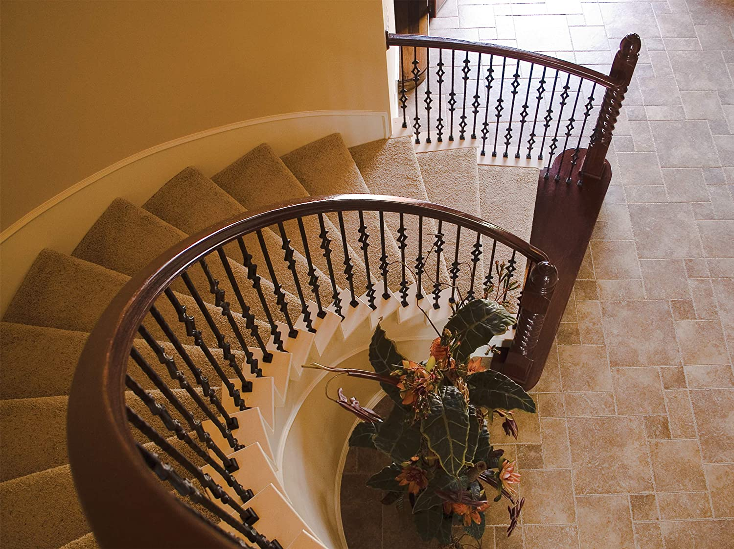Satin Black 2.9.28 Single Ball Solid Iron Baluster for Staircase Remodel