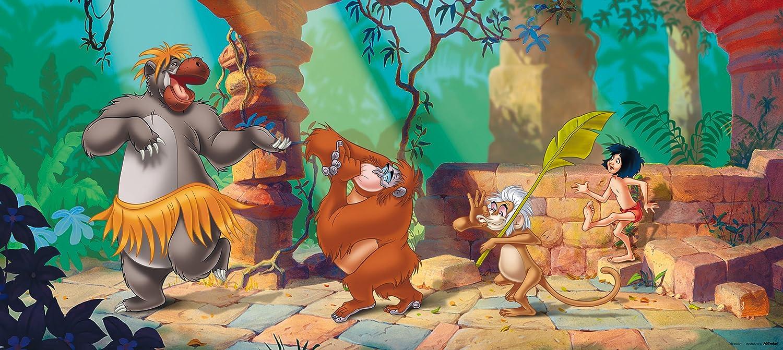 Fototapete Disney Tapete Dschungelbuch Mogli Balu Kinder 202x90cm ...