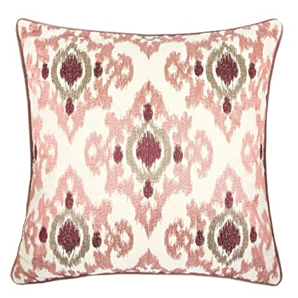 Amazon Homey Cozy Woven Cotton Throw Pillow CoverPink Series Unique Blush Pink Decorative Pillows