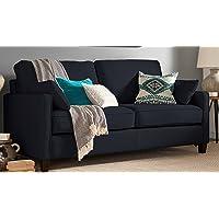 Deals on Serta Nina Track Arm Chenille Sofa w/2 Pillows
