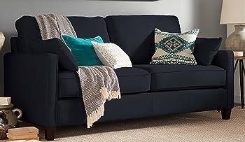 Serta Nina Track Arm Chenille Sofa with 2 Pillows
