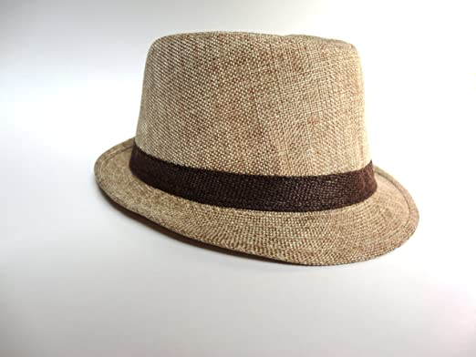 c37c60fe645d1 Image Unavailable. Image not available for. Color: Kid's size fedora hat (Light  Brown)
