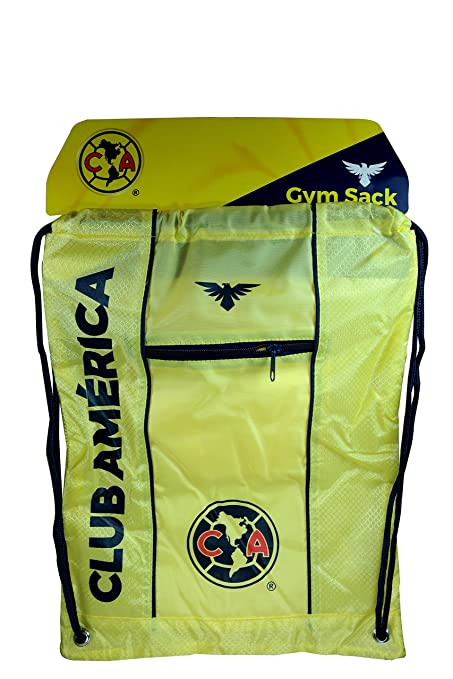 Club America Authentic Official Licensed Soccer Drawstring Cinch Sack Bag 007