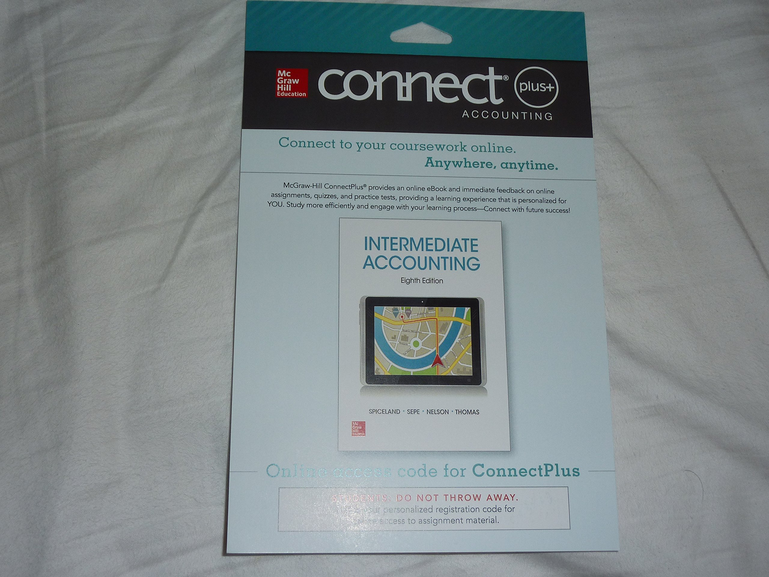 intermediate acct connect plus access j david sp and intermediate acct connect plus access j david sp and james sepe and mark nelson and wayne thomas 9780077832810 com books