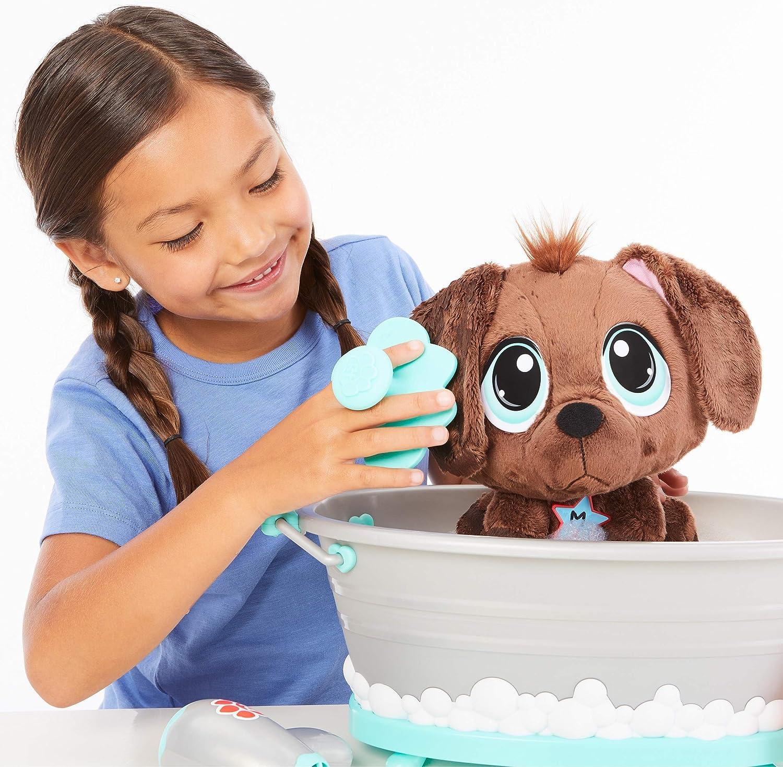 Little Tikes Rescue Tales Scrub 'n Groom Bathtub Playset w/ Chocolate Lab Plush Pet Toy, Multicolor: Toys & Games