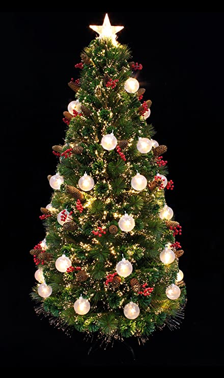 3fbc483b55f Artificial Christmas tree American Star Pine Pre-lit Christmas tree with star  LED light