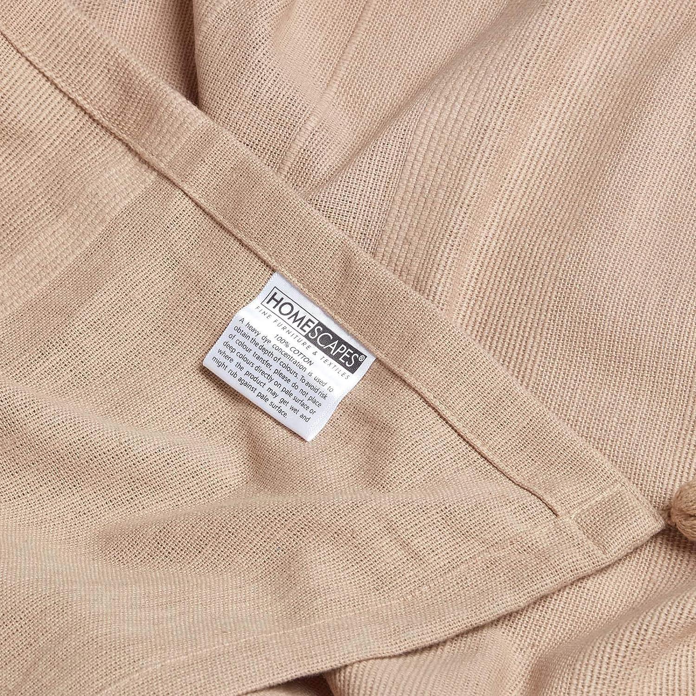 225 x 255 cm gelb Homescapes Tagesdecke Rajput aus 100/% Baumwolle Sofa/überwurf /Überwurfdecke Couch/überwurf in RIPP-Optik