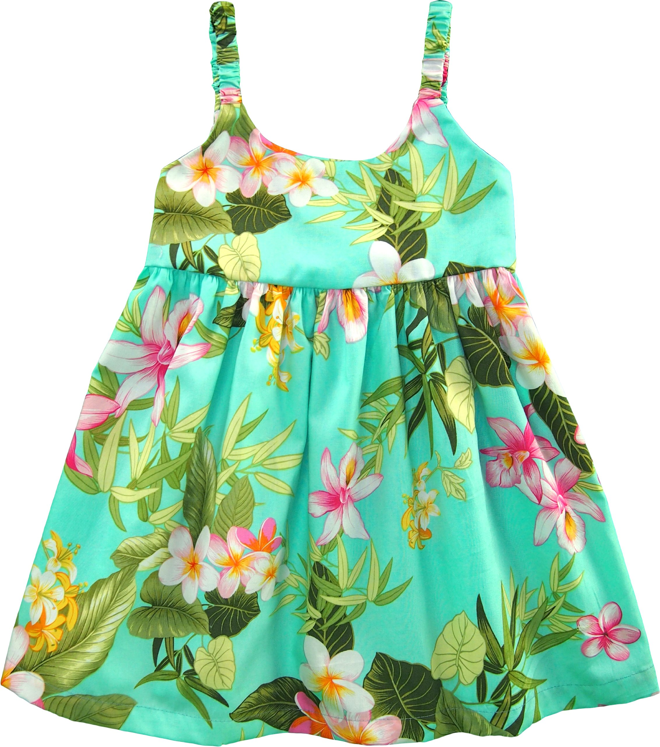 RJC Girls Orchid Plumeria Bungee Dress Aqua 2T