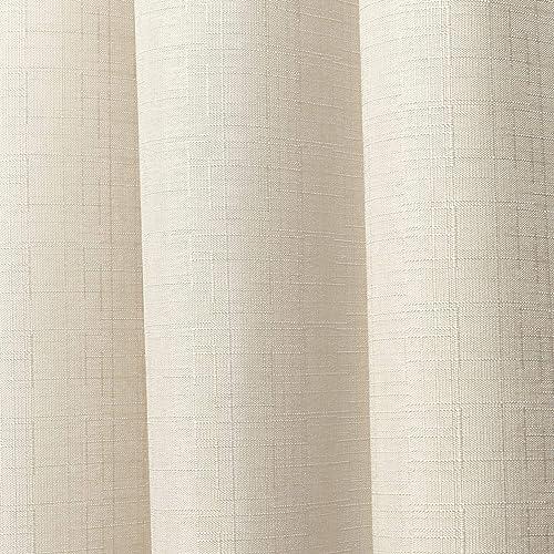 Chaps Lise Solid Textured Linen Look Grommet Top Curtain Panels