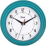 "Equity by La Crosse 25020 Analog Wall Clock, Teal Blue, 8"""