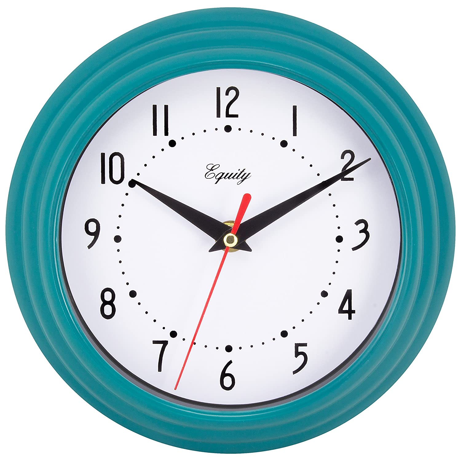 Amazon equity by la crosse 25020 analog wall clock teal blue amazon equity by la crosse 25020 analog wall clock teal blue 8 home kitchen amipublicfo Image collections