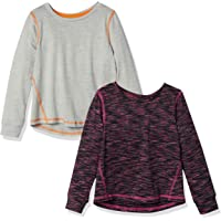Amazon Essentials 2-Pack Long-Sleeve Active tee Niñas, Pack de 2