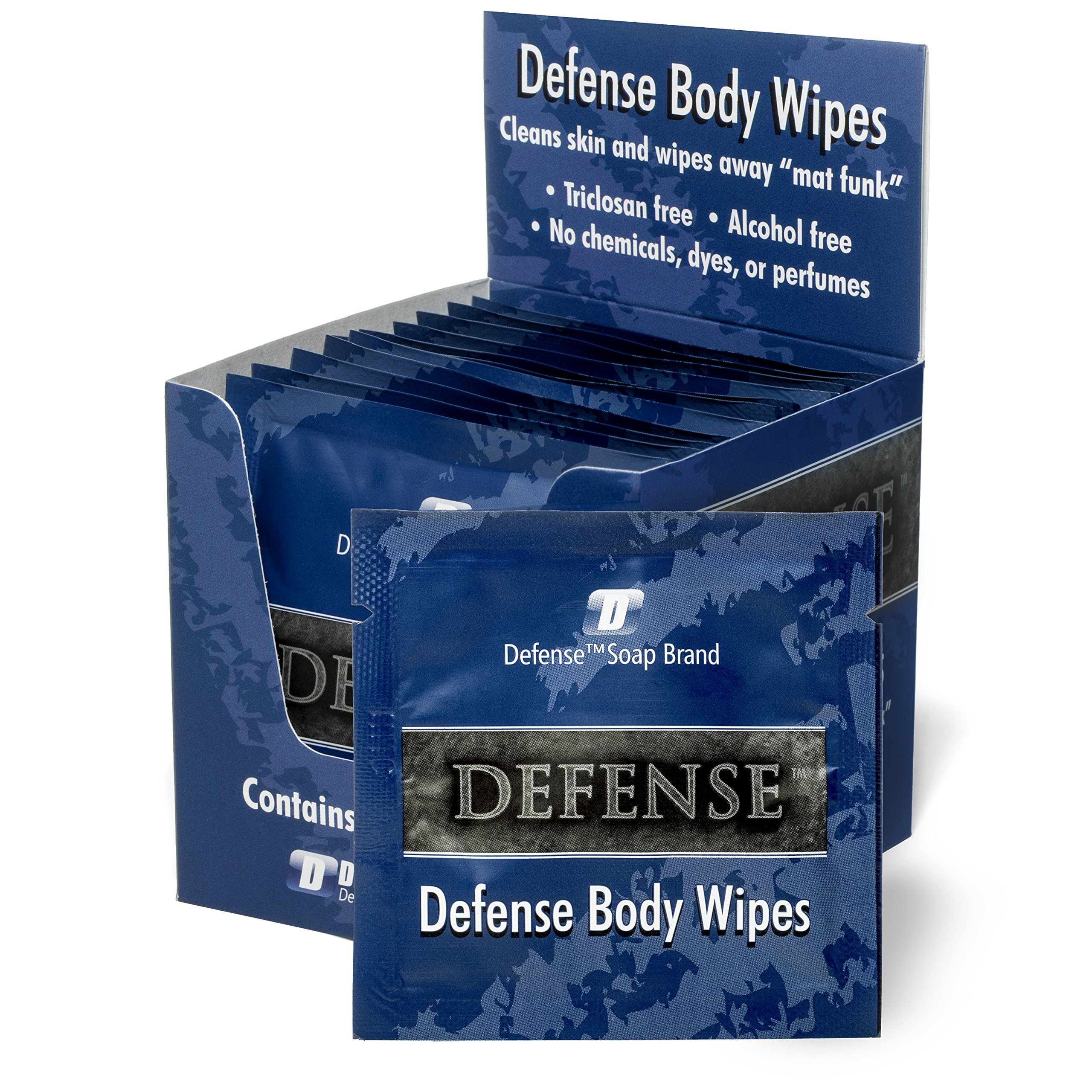 Defense Soap Body Wipes, 12 Individually Packed Travel Wipes - 100% Natural and Pure Pharmaceutical Grade Tea Tree Oil and Eucalyptus Oil by Defense Soap