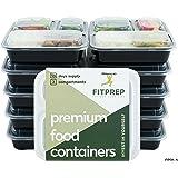 FITPREP El Original [10Pack] de 3Compartimento Meal Prep Contenedor   Modelo: fp31de N   Estable, reforzado, alta calidad, certificado, la mejor en el mercado y por lo tanto Amazon recomienda