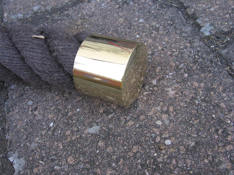 Seiltr/äger laiton brillant pour handlaufseil 40 mm