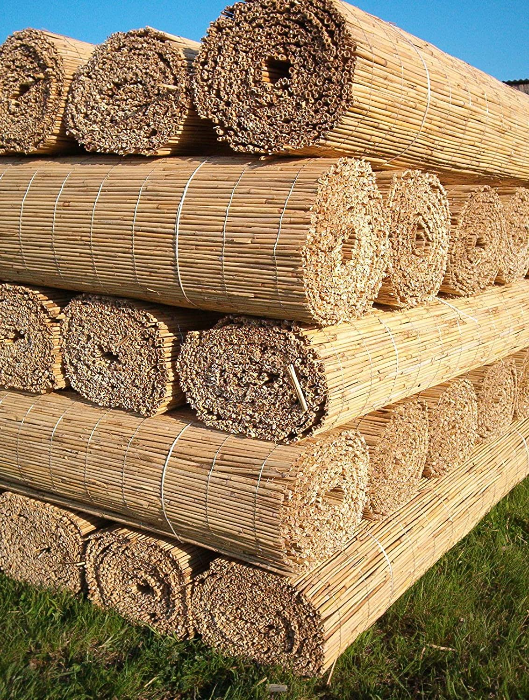Schilfrohrabdeckrolle 2x2m Reet Sichtschutz Zaun Amazon Garten