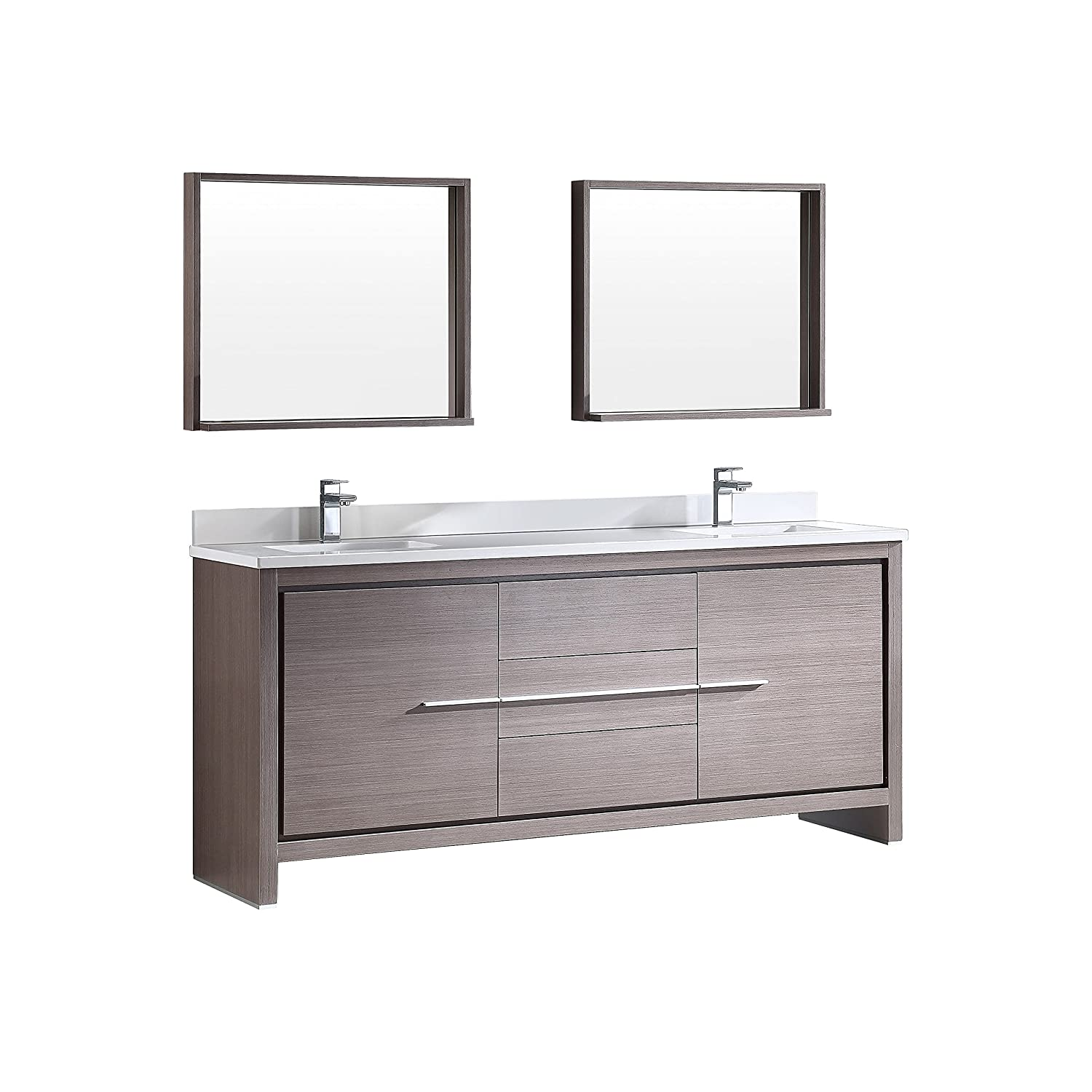 "Fresca Bath FVN8172GO Allier 72"" Modern Double Sink Bathroom"