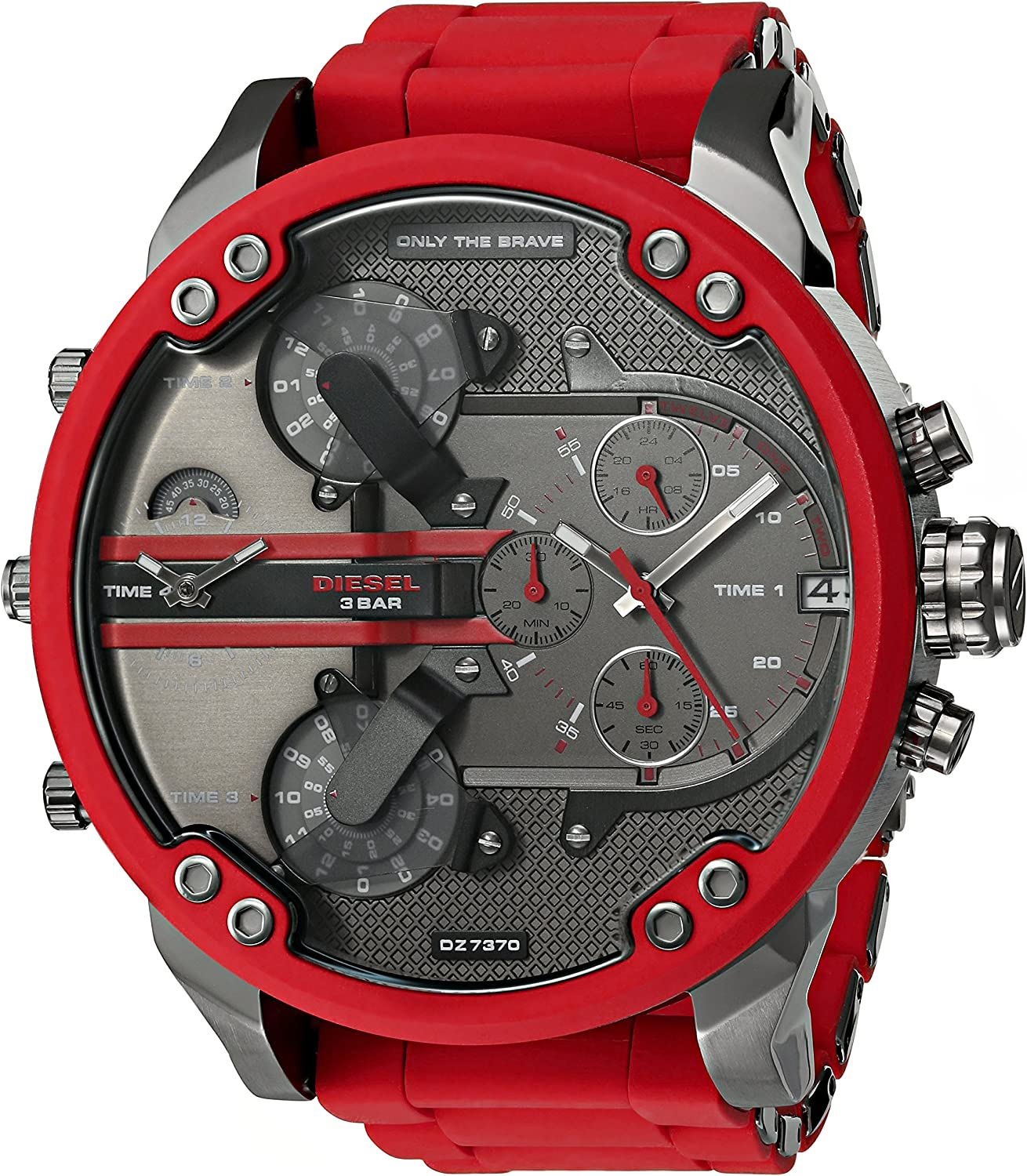 Diesel Mr. Daddy 2.0 dos mano acero inoxidable reloj